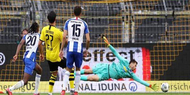 دورتموند يفوز على هيرتا في دوري الدرجة الأولى الألماني لكرة القدم