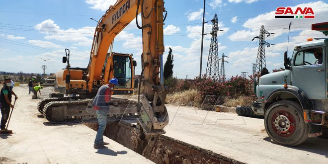 بكلفة 65 مليون ليرة تنفيذ مشروع للصرف الصحي في حلب- فيديو