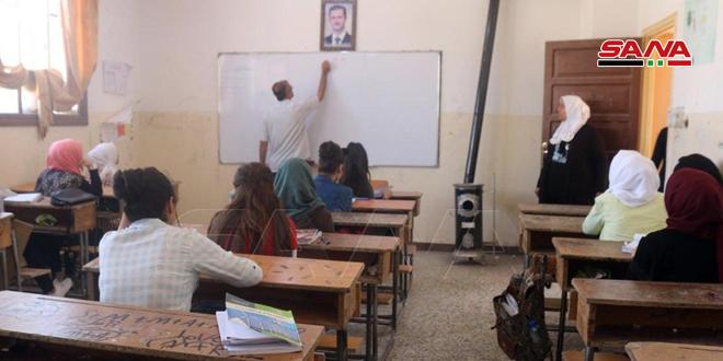 ضمن 88 شعبة صفية دورات لطلاب شهادتي التعليم الأساسي والثانوية العامة في دير الزور