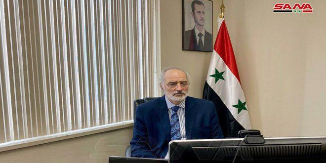 الجعفري: الحكومتان الأمريكية والتركية إلى جانب دعمهما الإرهاب وفرض الحصار تعملان على حرق المحاصيل الزراعية