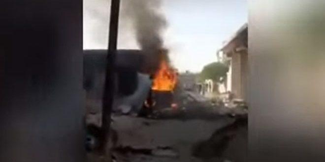 إصابات بين المدنيين بانفجار سيارة مفخخة في ناحية جنديرس بمنطقة عفرين شمال غرب حلب