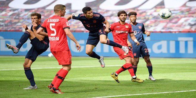 بايرن يهزم ليفركوزن في الدوري الألماني