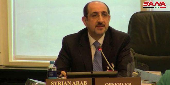 السفير صباغ: قرار منظمة حظر الأسلحة الكيميائية بشأن الاستخدام المزعوم للكيميائي في اللطامنة مسيس بامتياز لتحقيق أجندات معروفة