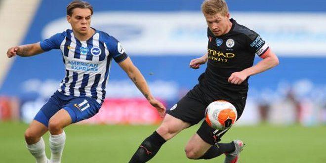 فوز مانشستر سيتي على برايتون بخماسية نظيفة في الدوري الإنكليزي لكرة القدم