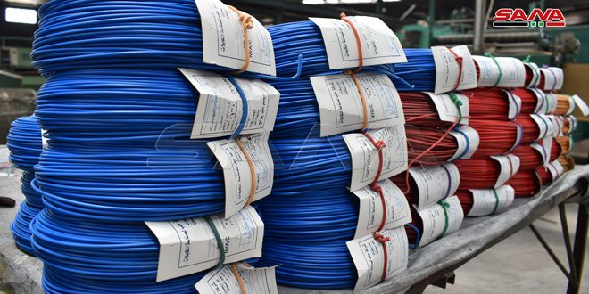 3 مليارات ليرة.. مبيعات شركة حلب لصناعة الكابلات خلال النصف الأول من العام الحالي