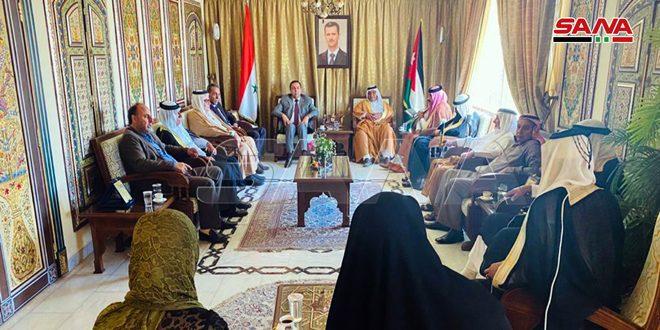وفد من عشائر الأردن يزور سفارة سورية: قانون قيصر مصيره الفشل