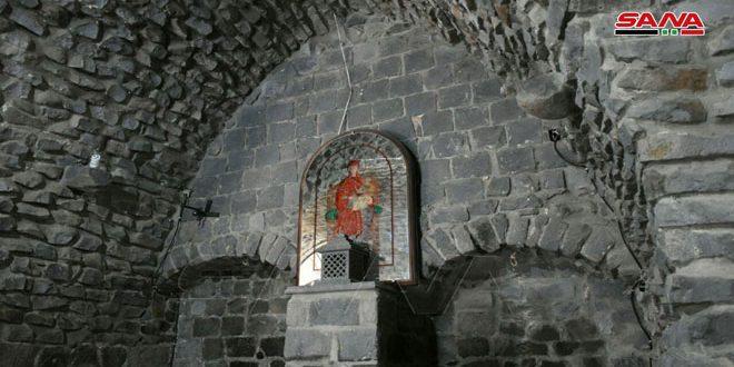 القاعة الأثرية في كاتدرائية الأربعين شهيداً بحمص.. معلم تاريخي احتفظ برونقه على مدى 130 عاماً