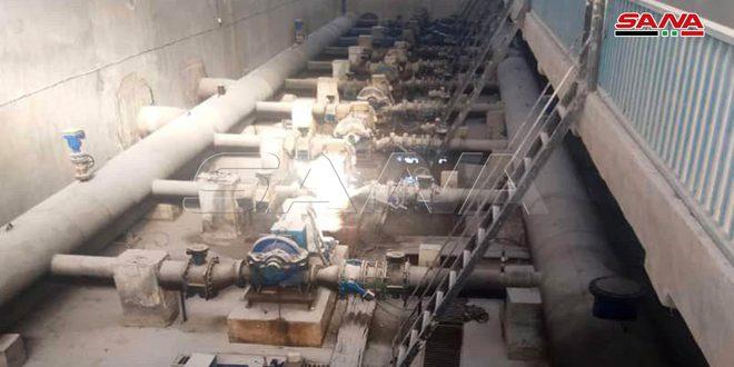 مياه الحسكة: تشغيل محطة علوك وضخ المياه لأحياء المدينة