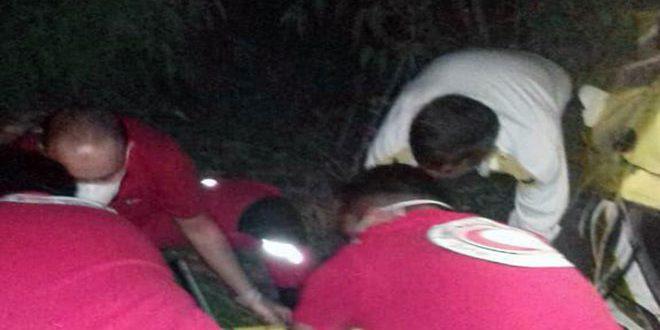 وفاة امرأة وإصابة 4 أشخاص بتدهور سيارة على طريق حمص طرطوس