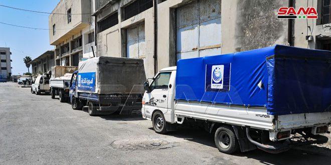 السورية للتجارة: تسيير 32 سيارة جوالة لبيع المواد المدعومة بأحياء اللاذقية وجبلة وريف المحافظة