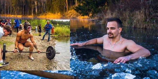 رباع روسي يحطم رقماً قياسياً برفع الأثقال تحت الماء