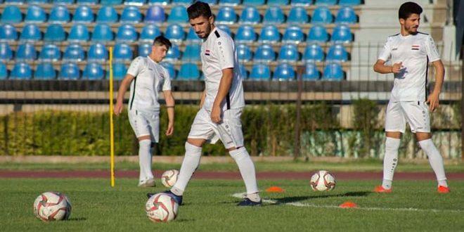 منتخب سورية بكرة القدم للرجال يواصل معسكره التدريبي بدمشق تحضيراً لاستئناف تصفيات آسيا وكأس العالم