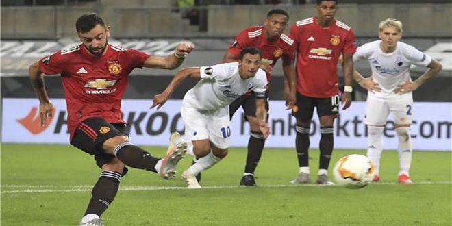 مانشستر يونايتد يتأهل لقبل نهائي الدوري الأوروبي