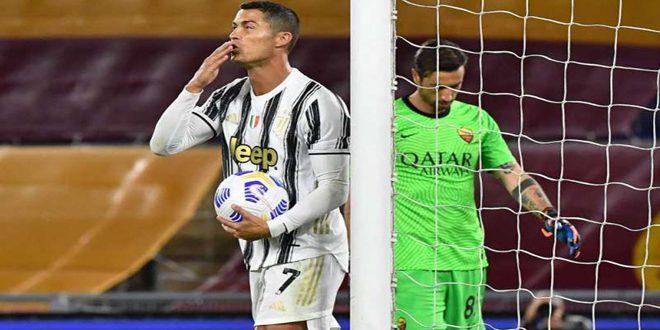 ثنائية رونالدو تمنح يوفنتوس التعادل 2-2 مع روما
