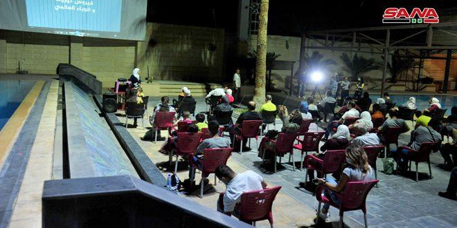 مؤسسة الأولمبياد الخاص السوري تعرض فيلماً توعوياً في الهواء الطلق للاعبيها ضمن فعالية اجتماعية