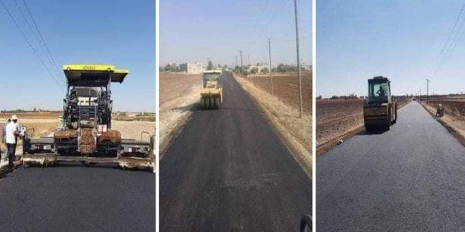 الانتهاء من تأهيل عدد من الطرق التي تضررت من الإرهاب بريف حمص