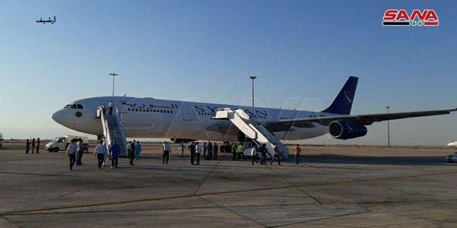 وصول طائرة تقل 188 سورياً من العالقين بالخارج قادمة من الإمارات