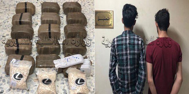 القبض على شخصين من مروجي المخدرات في ريف دمشق
