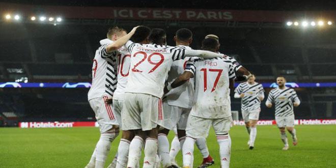 مانشستر يونايتد يهزم باريس سان جيرمان بدوري أبطال أوروبا