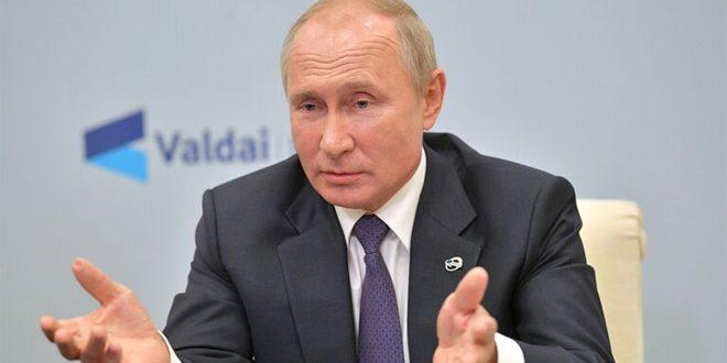بوتين يدعو مجدداً لرفع الإجراءات القسرية المفروضة على سورية