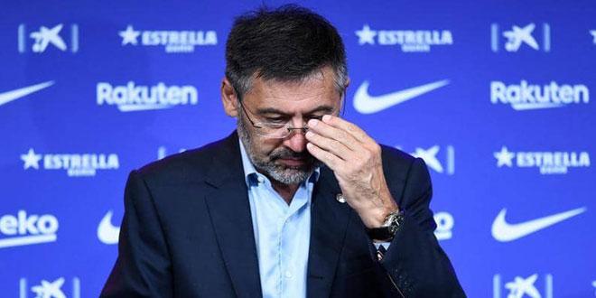 استقالة رئيس برشلونة