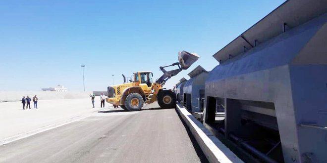 أكثر من 438 ألف طن كمية المواد المنقولة عبر الخطوط الحديدية بحمص
