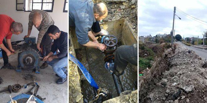 مياه طرطوس: صيانة خطوط الضخ في عدد من مناطق المحافظة