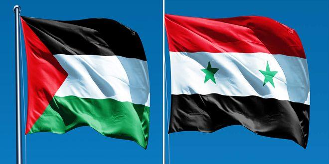 سورية تجدد موقفها الداعم لحق الشعب الفلسطيني في تقرير مصيره وإقامة دولته المستقلة