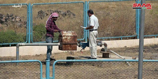 المؤسسة العامة لمياه الشرب في الحسكة تدخل بئرين جديدين بالخدمة في مشروع علوك