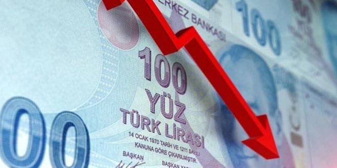 هبوط حاد بالليرة التركية
