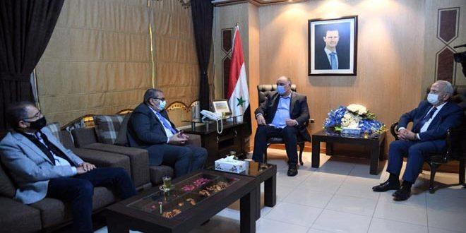 مباحثات سورية أردنية لتنشيط التبادل التجاري وحركة الترانزيت