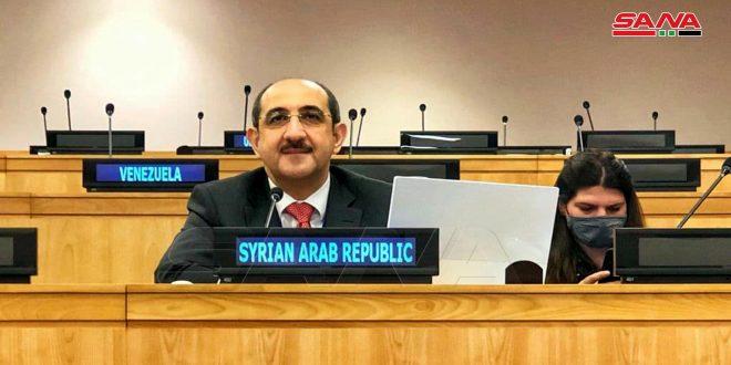 انتخاب مندوب سورية الدائم لدى الأمم المتحدة مقرراً للجنة تصفية الاستعمار