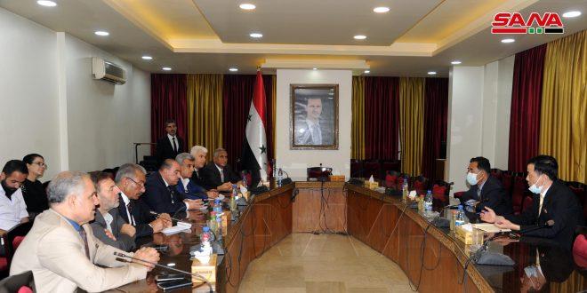 لجنة الصداقة السورية الكورية الديمقراطية في مجلس الشعب تبحث مع السفير الكوري سبل تطوير العلاقات البرلمانية