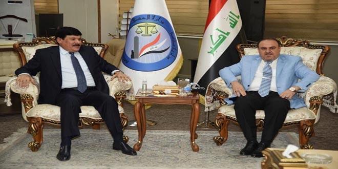 مباحثات سورية عراقية لتطوير التعاون الثنائي في المجالات القانونية والقضائية