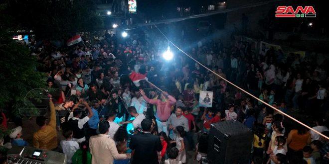 احتفال شعبي في قرية حاصور بريف حمص بمناسبة فوز الدكتور بشار الأسد بالانتخابات الرئاسية