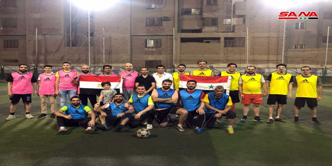 طلبتنا في مصر يحيون عيد الجيش ببطولة الوفاء لكرة القدم