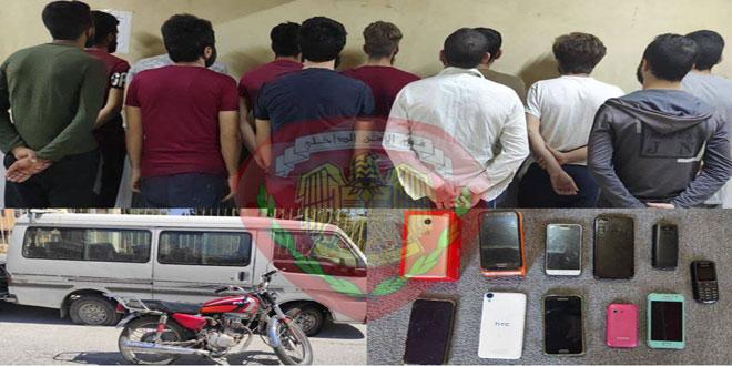 القبض على متعاطي ومروجي مخدرات يسرقون الأجهزة الخلوية في حلب