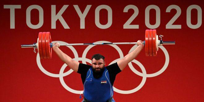 الرباع السوري معن أسعد يحرز برونزية في أولمبياد طوكيو بمسابقة رفع الأثقال