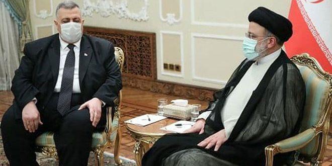 ممثلاً الرئيس الأسد… صباغ يقدم التهاني للرئيس الإيراني.. رئيسي: سنواصل التعاون بقوة