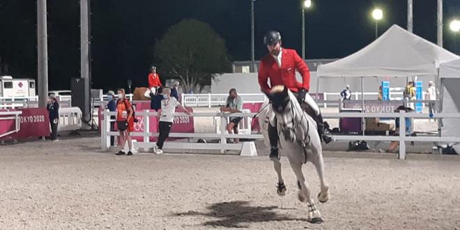 الفارس أحمد حمشو ينهي مشاركته بمسابقة قفز الحواجز في أولمبياد طوكيو
