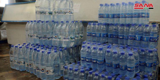 السورية للتجارة تطرح كميات إضافية من المياه المعدنية في صالاتها