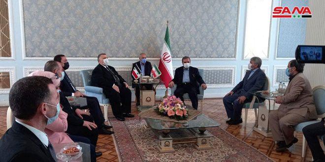 صباغ ورضائي يشددان على عمق العلاقات الاستراتيجية بين سورية وإيران