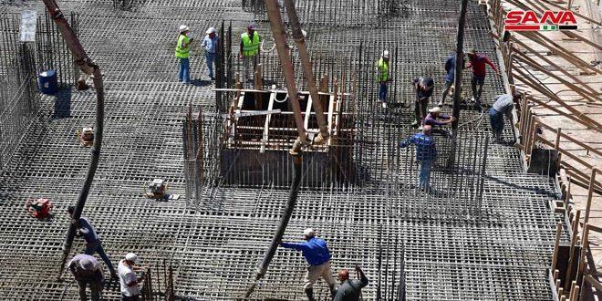 وزير الأشغال العامة والإسكان لـ سانا: نسبة تنفيذ عدد من أبراج السكن  البديل (باسيليا سيتي) تجاوزت 24 بالمئة
