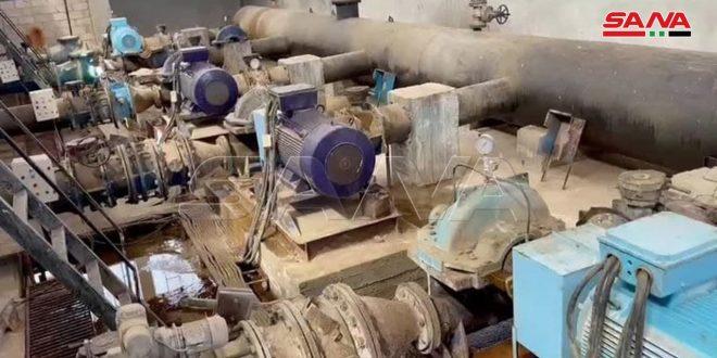 إدخال بئر مياه جديدة بالخدمة ضمن مشروع علوك بالحسكة
