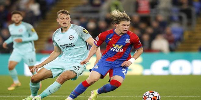 برايتون يتعادل مع كريستال بالاس في الدوري الإنكليزي لكرة القدم