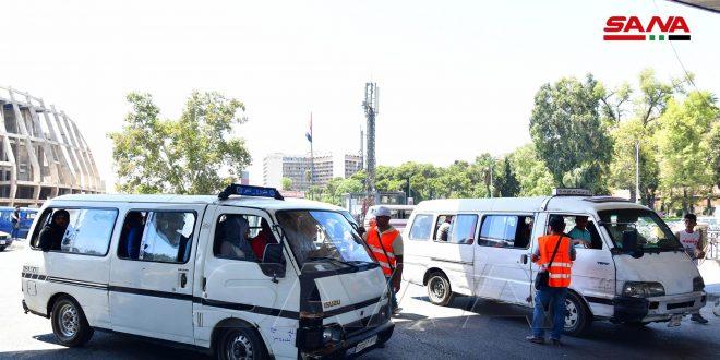إجراءات لإدارة المرور لضمان التزام سائقي الباصات والميكروباص بخطوطهم