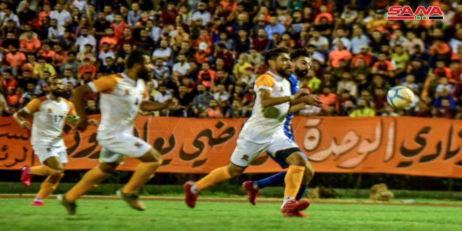 الوحدة يفوز على الكرامة ويتصدر الدوري الممتاز لكرة القدم