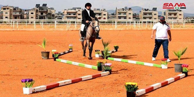 اتحاد الفروسية يقيم بطولة للأولمبياد الخاص في حماة