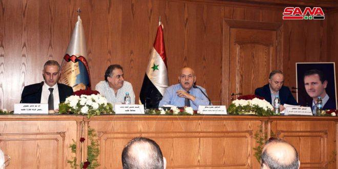 غرفة تجارة حلب تطالب بتشكيل لجنة اقتصادية لكل محافظة لتسعير المواد