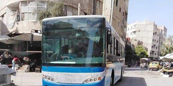 تخصيص باصين للنقل الداخلي لبلدة يلدا بريف دمشق